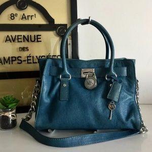 Michael Kors Hamilton Leather Satchel Bag
